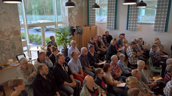 Det första informationsmötet hos Splivision var välbesökt